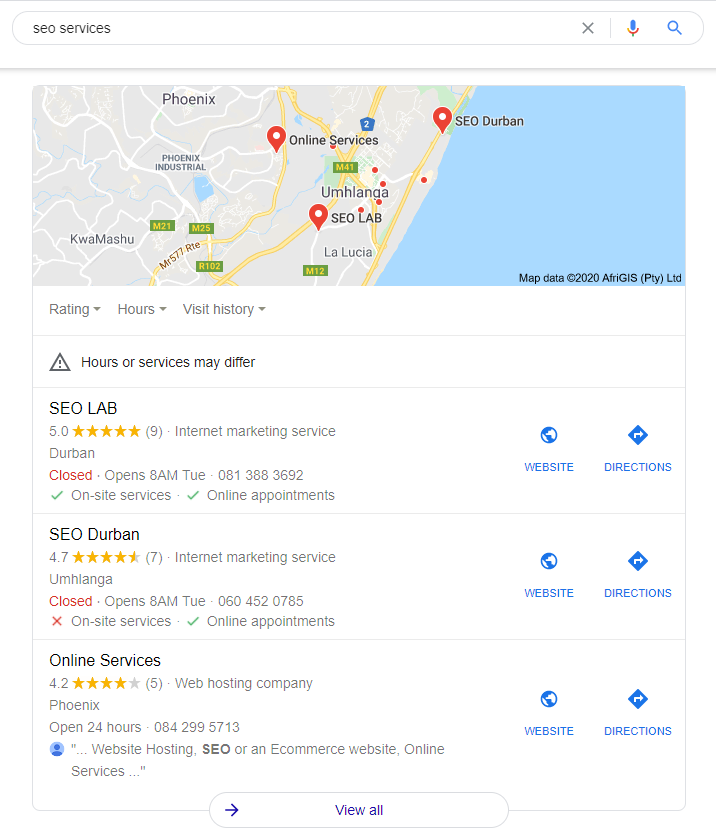 Local Maps SEO